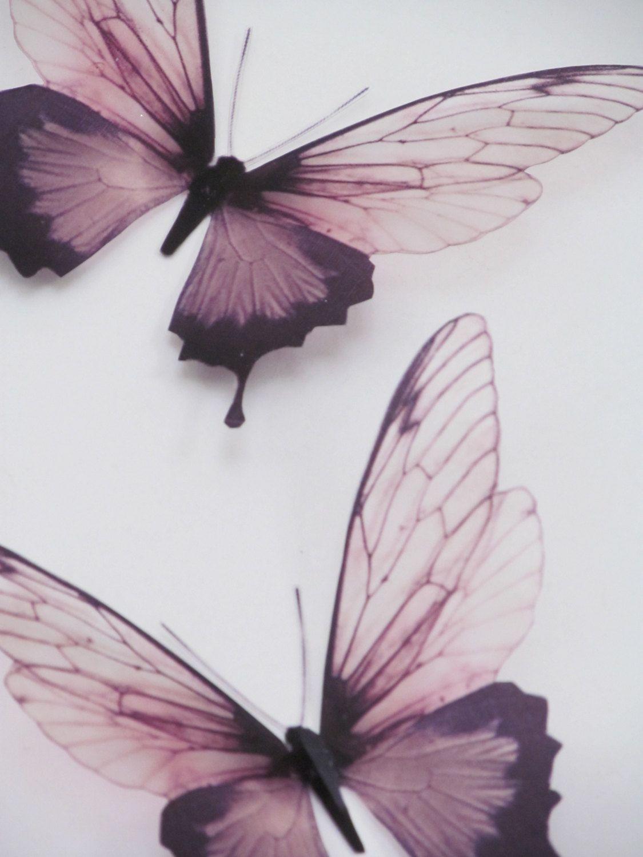 3 Luxury Amazing in Flight Butterflies 3D Butterfly Wall Art | Etsy