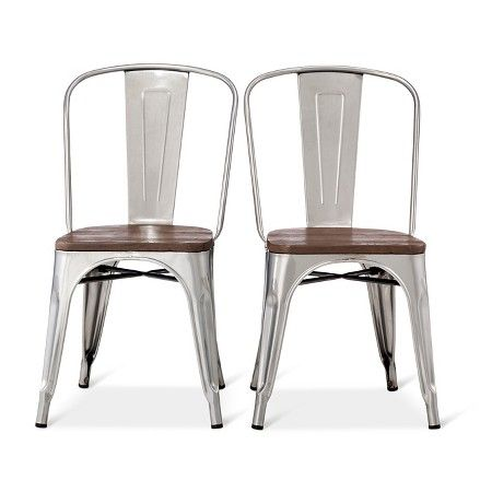 Carlisle Wood Seat Dining Chair Natural Metal Set Of 2 Target Dining Chairs Patio Chairs Diy Metal Dining Chairs