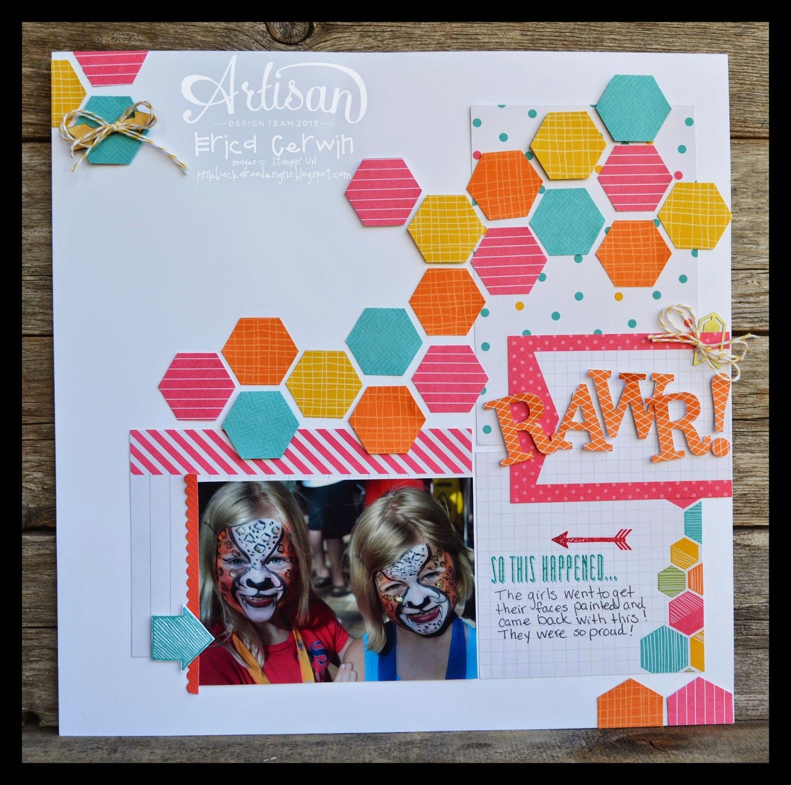 project life by stampin up traditional scrapbook page project life