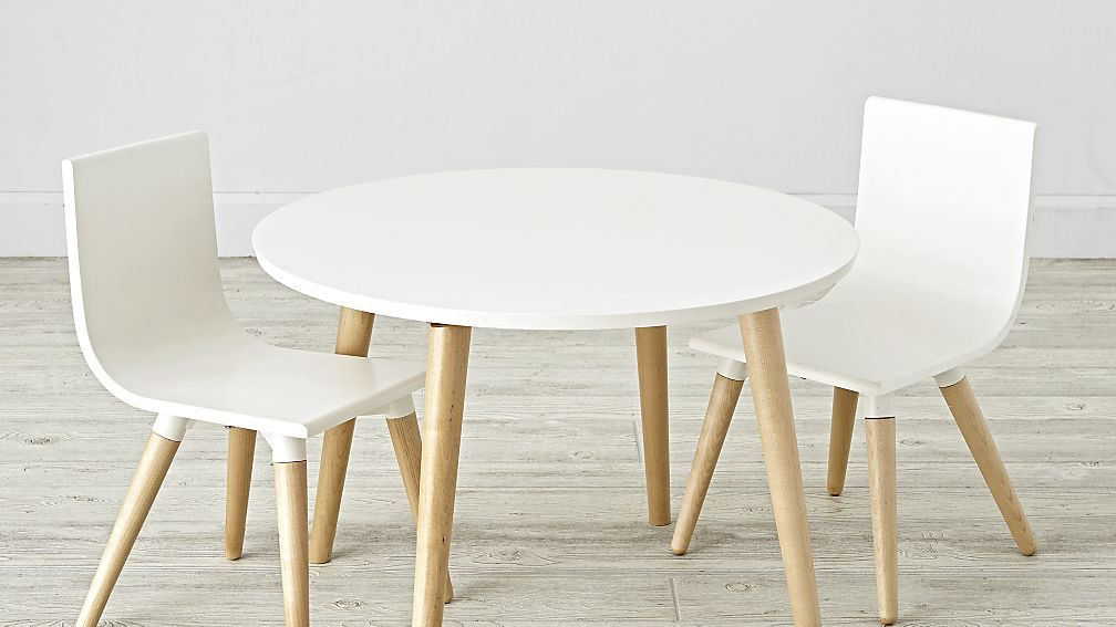 Pint sized table and chairs set crate and barrel c h l o e