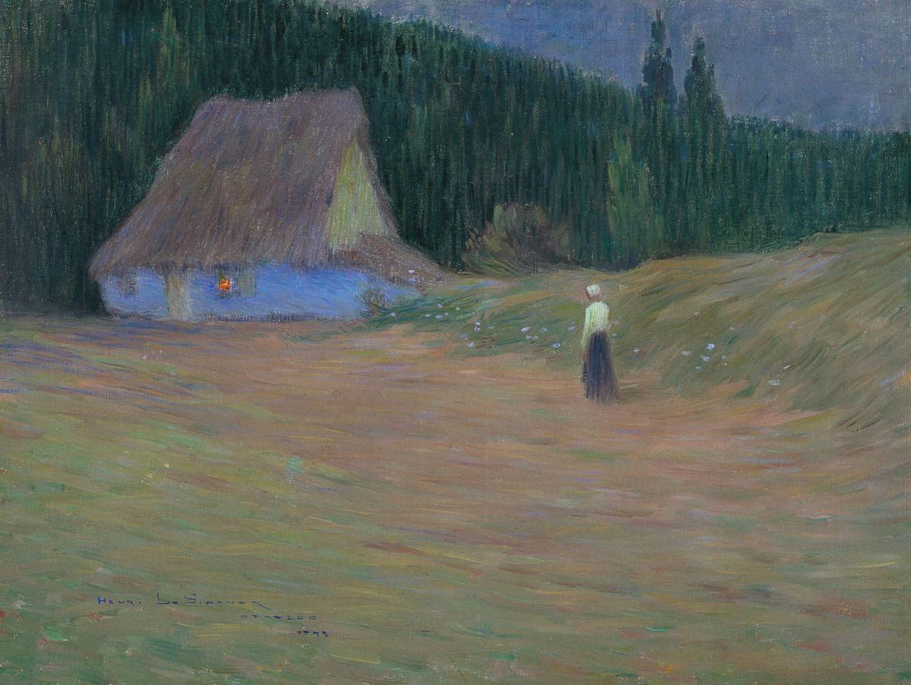 , The Hut on the Forest Edge, Étaples by Henri Le...