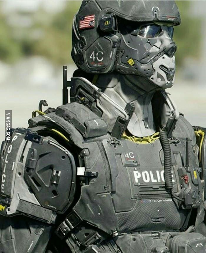 future looking police body armor armor piece tactical