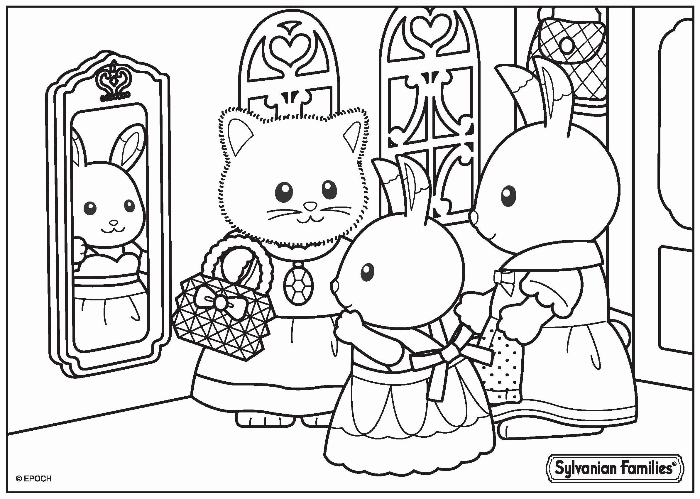 Family Coloring Pages for Preschoolers Beautiful Sylvanian