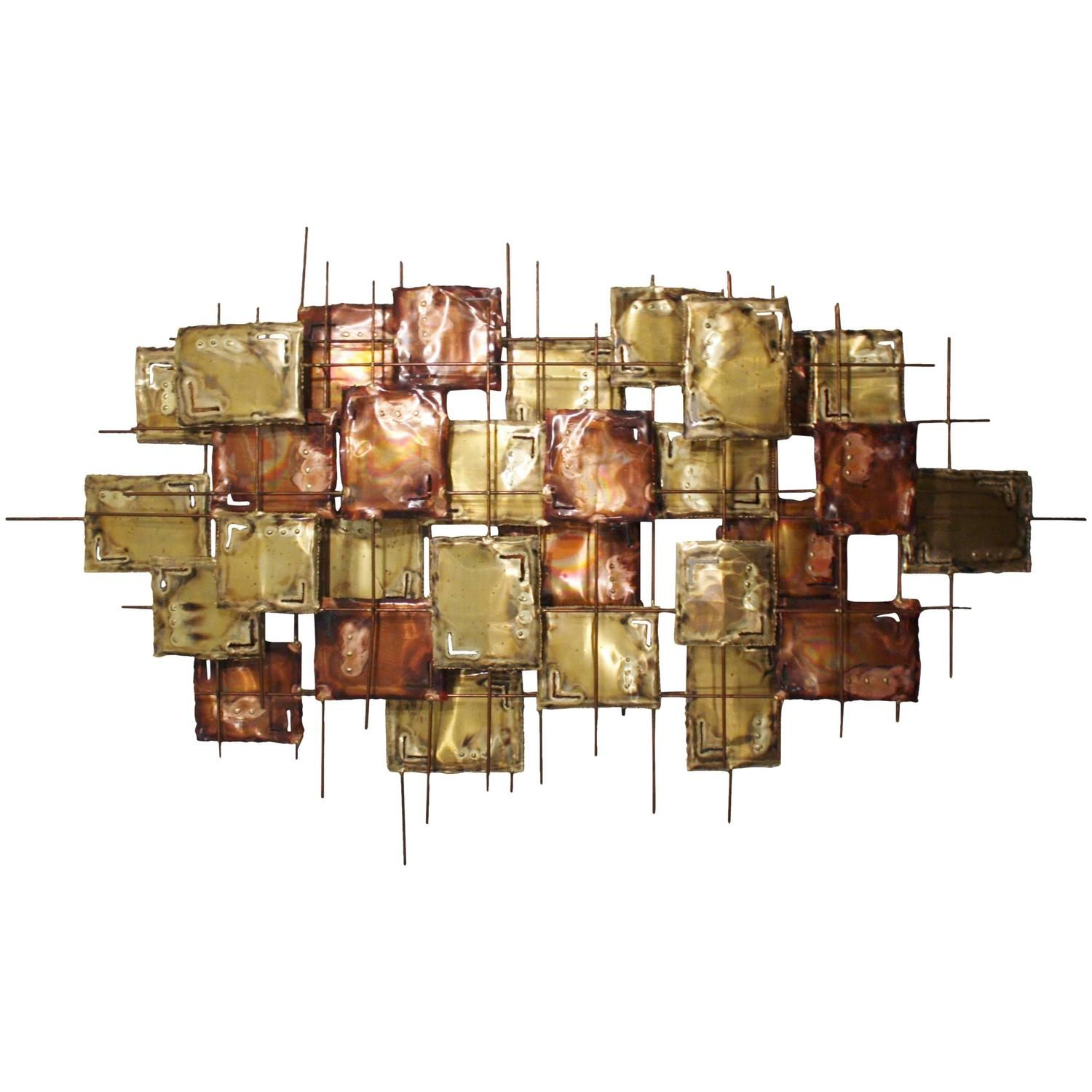 Large #Brutalist Copper Wall #Art, Signed - From A Unique
