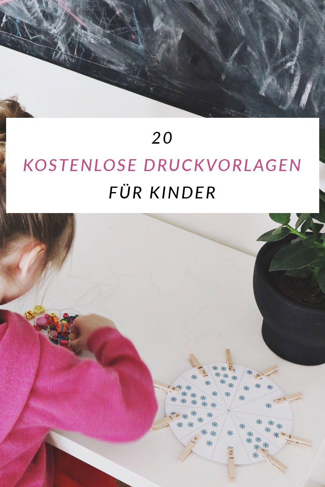 Spieleideen und Montessori Material für Kinder kostenlos zum ...