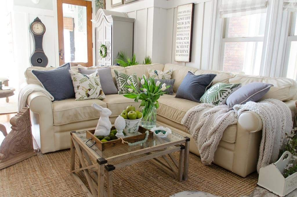 Lazyboy Collins Sectional In Butter Cream Sectional Living Room