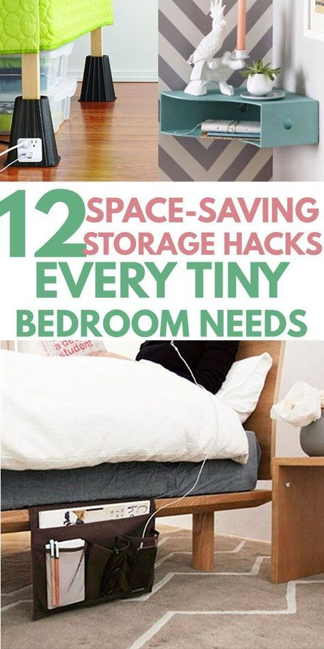 12 Super Easy Bedroom Organization Ideas to SAVE TONS OF SPACE images