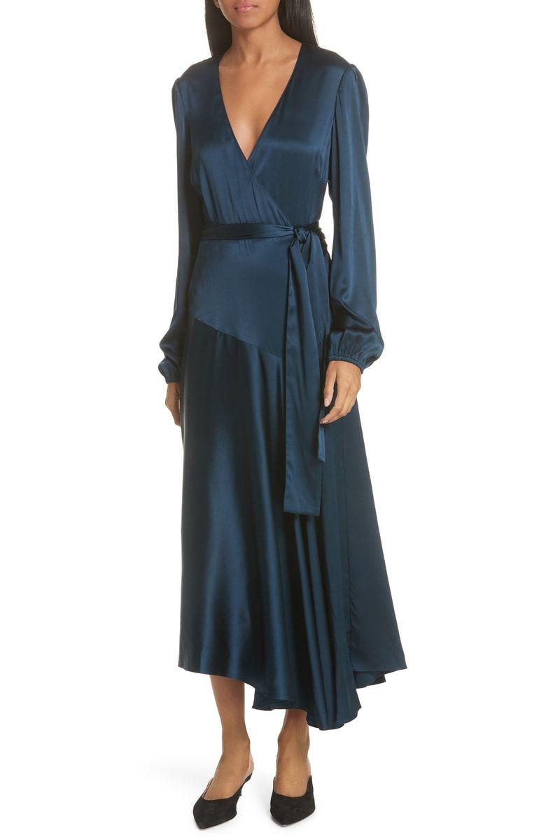 f5e7ee9b987ff Free shipping and returns on A.L.C. Darby Stretch Silk Wrap Dress at ...
