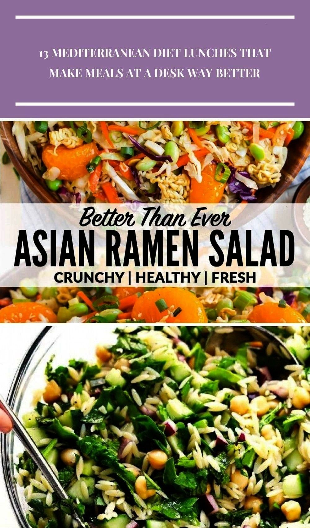 HEALTHY version of the ridiculously amazing Asian ramen salad made with ...  - Salad -A fresh HEALT