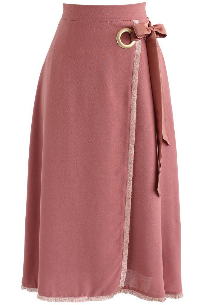 Knot A Problem Flap Skirt in Brick Red   Nähmuster, Rock und Neid