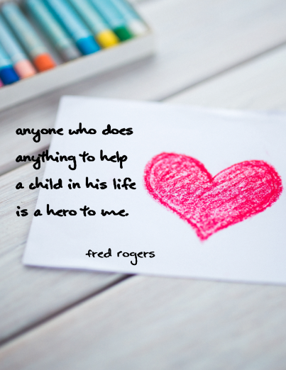 This is an inspirational poster featuring a quote by Fred Rogers. It can be used to decorate a classroom or simply to share with and encourage fellow educators!