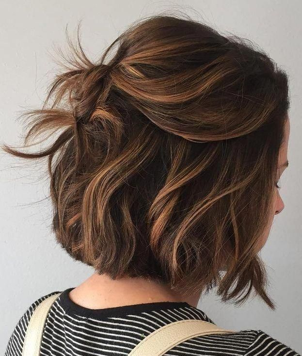 34 Stunning Examples of Short Brown Hair Highlights #Brown