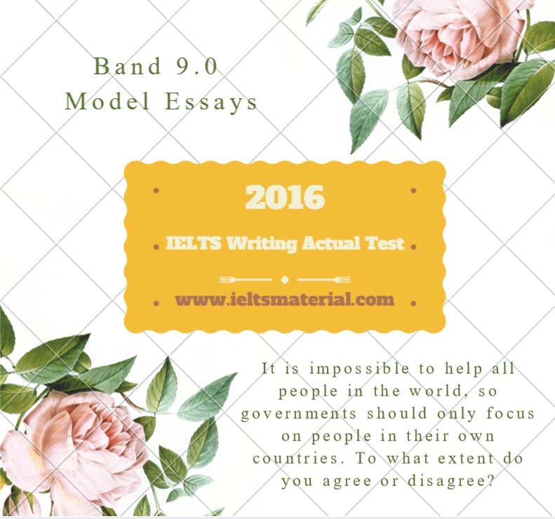 IELTS Writing Actual Test in March, 2016 - Band 90 Sample - sample argumentative essay