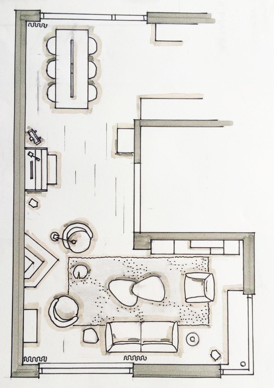 19 Ideeen Over Interieur Tekenen Interieurschets Interieur Woonkamer Tekenen