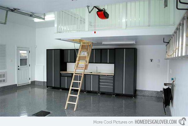 15 Ideas To Organize Your Garage Home Design Lover Garage Interior Garage Attic Garage Storage Solutions