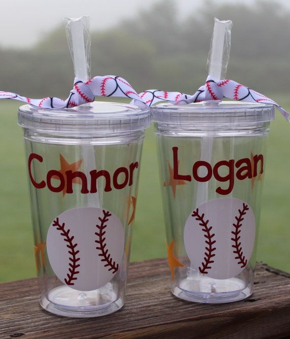 f32154ef693 Kid-sized baseball tumblers. Give them as a gift just as they are... or you  could fill them with surprises for that special child in your life.