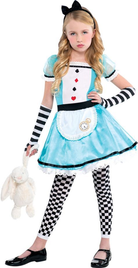 Girls Wonderful Alice Costume - Party City | halloween ideas ...