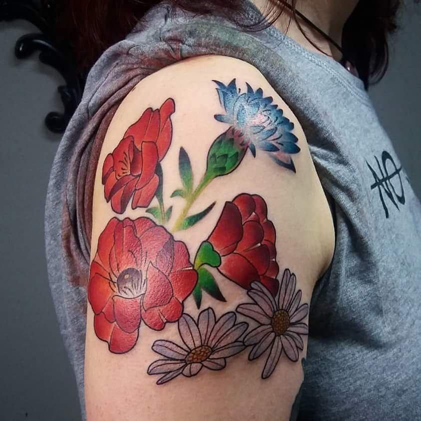Stich Hamburg Stich Hamburg On Somegram Posts Videos Stories Somegram Blumen Von Claudita Clauditattoo Flo Flower Tattoos Girly Tattoos Poppies Tattoo