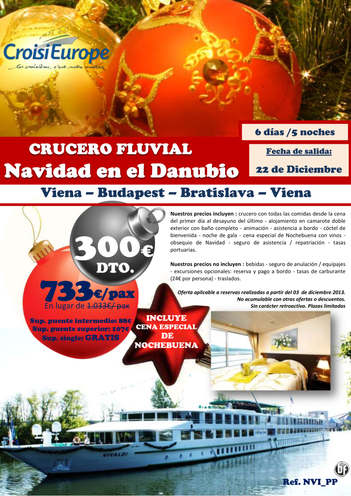 300€ dto Crucero fluvial Navidad en el Danubio ultimo minuto - http://zocotours.com/300e-dto-crucero-fluvial-navidad-en-el-danubio-ultimo-minuto/