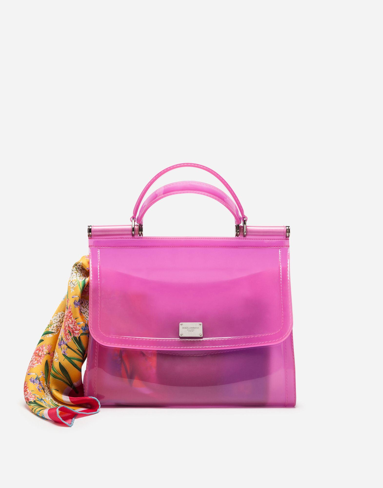 60b54918fe SEMI-TRANSPARENT RUBBER SICILY HANDBAG. Dolce  amp  Gabbana ...