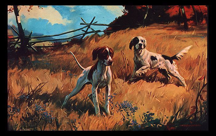 Vintage 1960s Prized Hunters Bird Dogs Calendar Art Hy