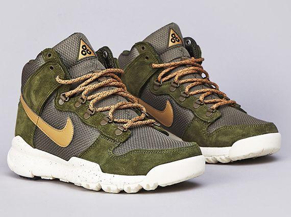 promo code 3a387 01f5c Nike Dunk High OMS - Light Green - Flight Gold - Medium ...