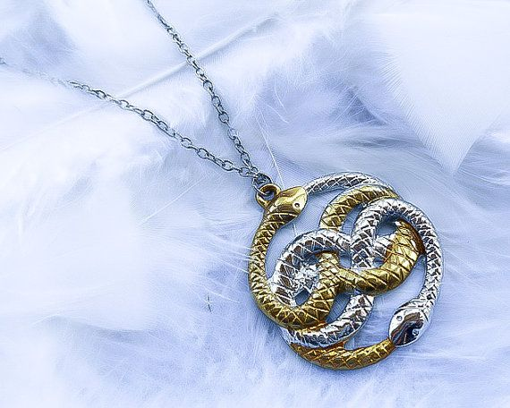 Neverending story necklace ouroboros necklace auryn necklace neverending story necklace ouroboros necklace auryn necklace ouroboros pendant snake necklace mozeypictures Choice Image