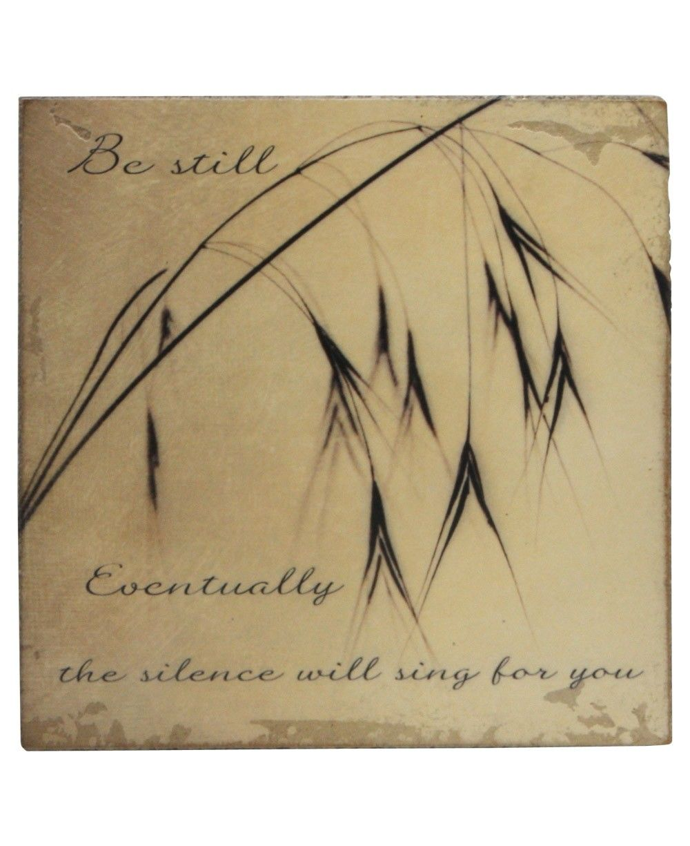 Be still. Eventually the silence will sing for you. These stunningly simple pieces of wall art are handcrafted using traditional plastering techniques applied in multiple layers over wood.