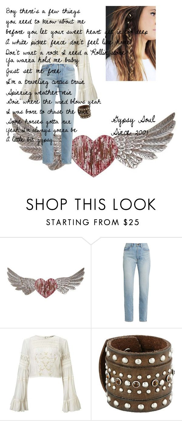 """It's How I'll Always Be"" by watsonsheep ❤ liked on Polyvore featuring PBteen, Yves Saint Laurent, Miss Selfridge and M&F Western"
