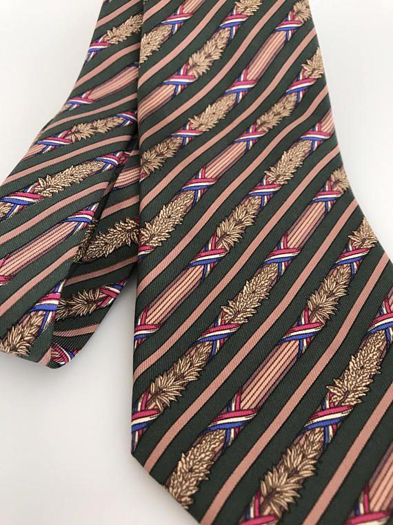 2929ba6acd91 MINT Vintage Hermes Tie 7171 FA Bastille Day French Flag Olive ...