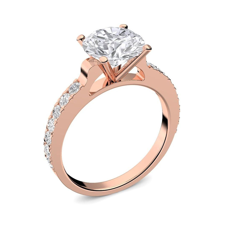 Rosegold Ring Verlobungsringe Rosegold vergoldet Zirkonia Stein