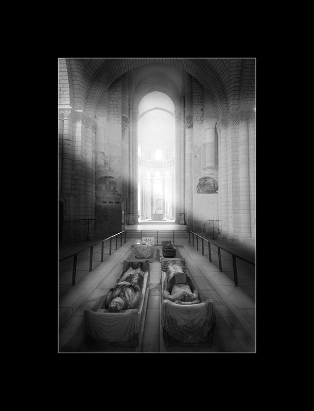 Plantagenets buried at the Abbey of Fontevraud including - King Henry II of England and Eleanor of Aquitaine.. and King Richard The Lion Heart and Isabella of Angouleme.