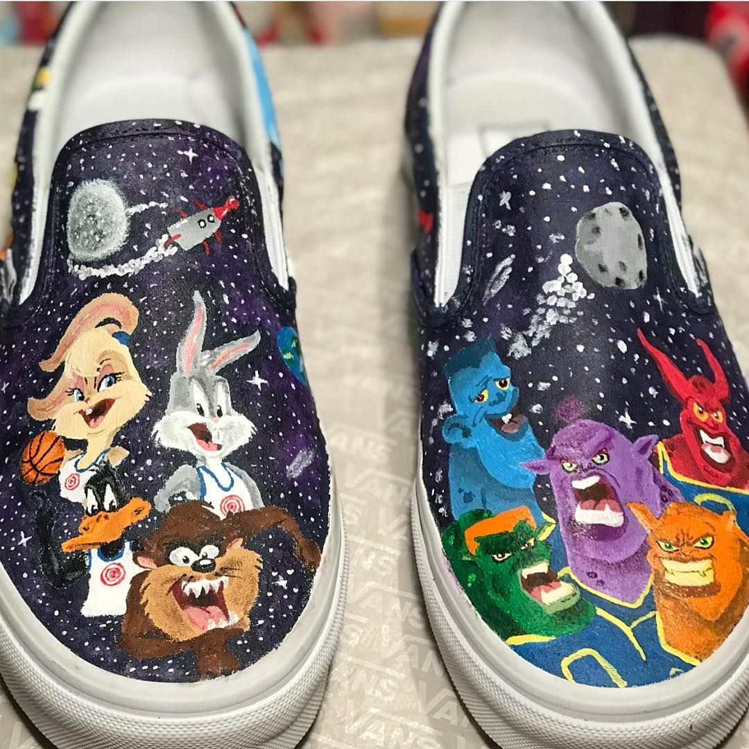 anyone remember these? my first custom #spacejam vans!thanks