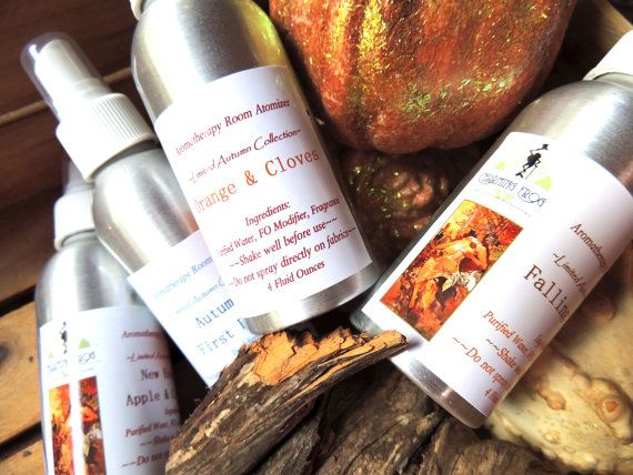 4Pack  AUTUMN ROOM SPRAY  Gift Set Room Spray  by thecharmingfrog, $20.00