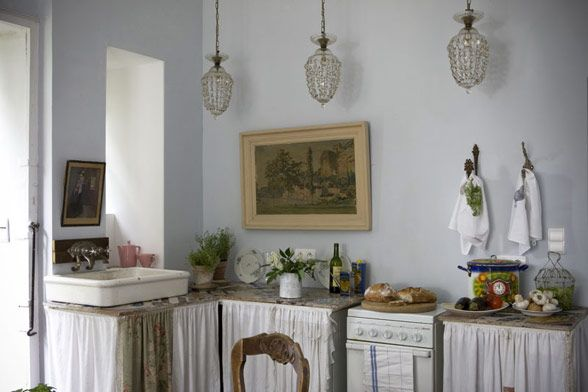 Typical Simple But Elegant Kitchen In A French Apt