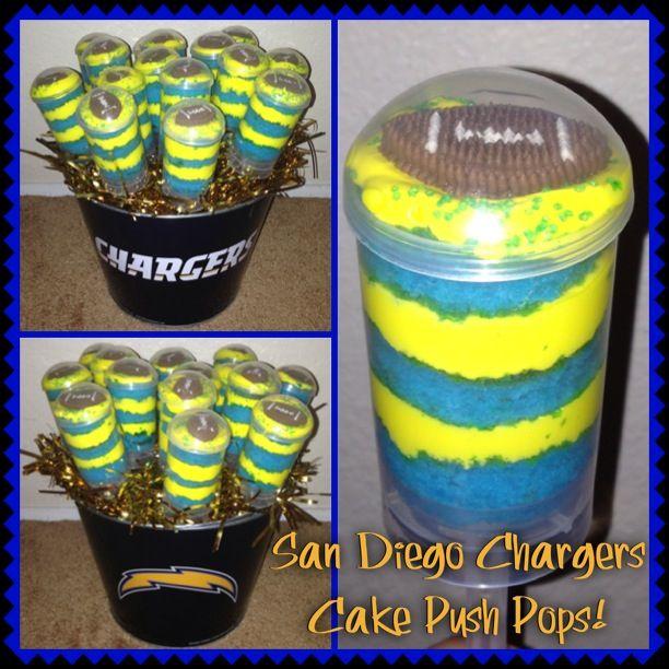 San Diego Chargers Cake: San Diego Chargers Cake Push Pops