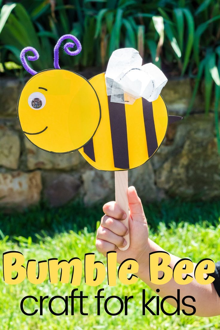 How to make a simple preschool bumble bee craft bumble