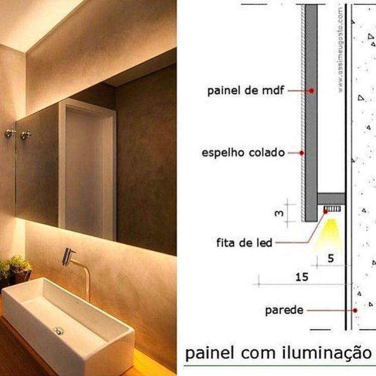 Nenhuma Descricao De Foto Disponivel In 2020 Cove Lighting Interior Lighting Bathroom Design