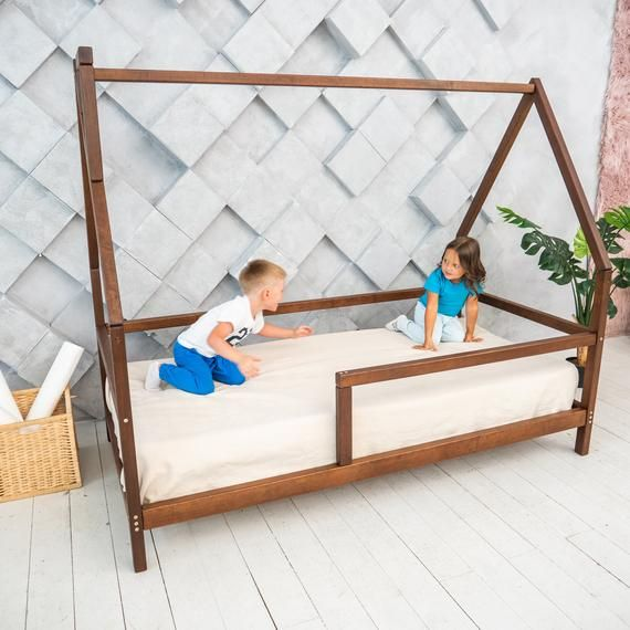 ★ PRICE is only for one Wooden Bed with Legs & Slats ★NOTE  Mattress and bed clothing are not included in price.✭  At this listing, you can buy a dark bed with a design like on a photo. ✭  On your choice necessary size.Montessori Toddler Bedroom Furniture Modern Kids Bed Wood House Montessori Bed HomeLiving Nursery Bed Frame Bed Children Furniture Kids Bed ✦ The bed is made of high-quality natural alder wood. The slats is made of high class polished birch plywood. We use eco - friendly, water-ba