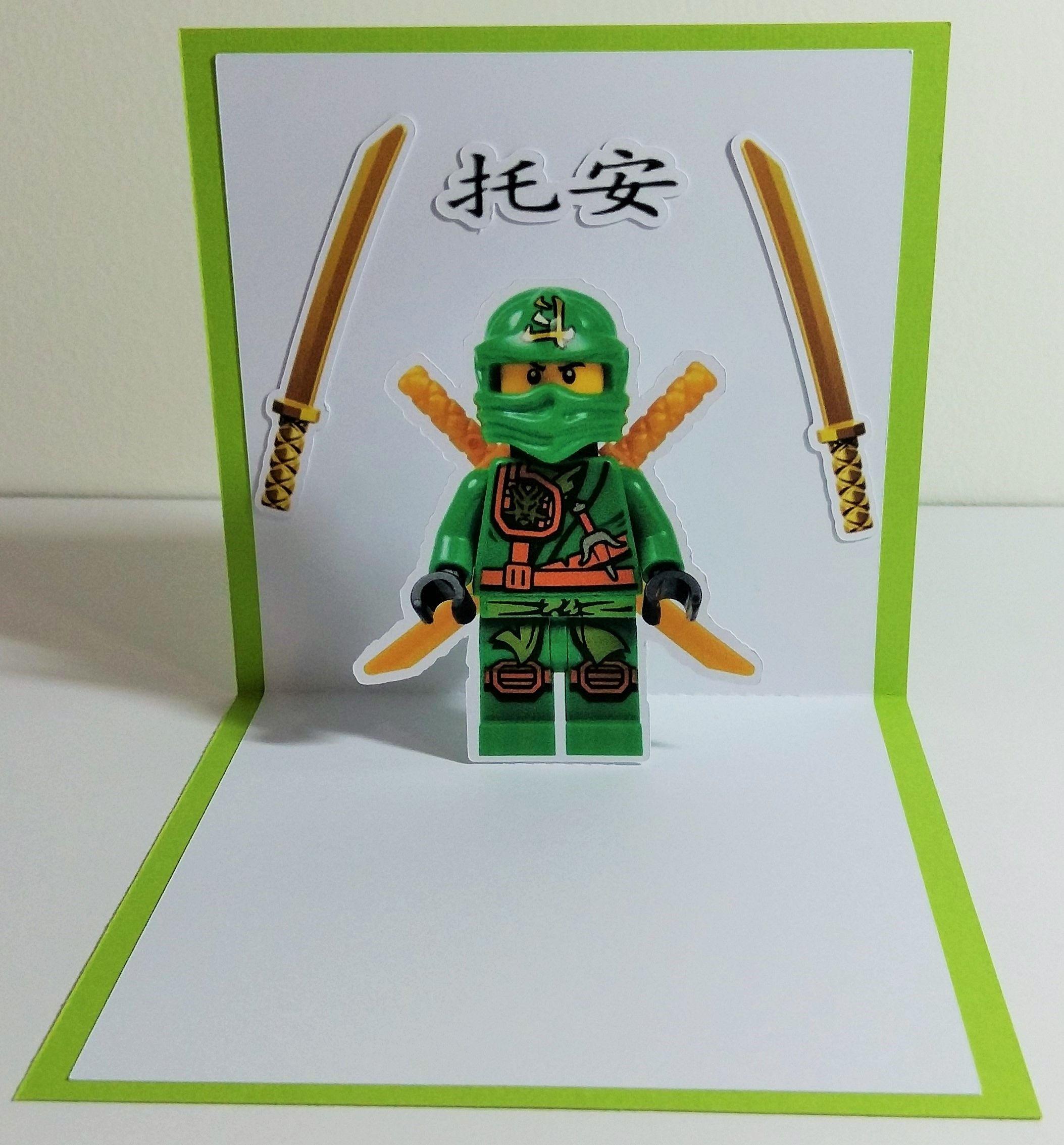 Lego Ninjago 1 x 3d carte Lloyd