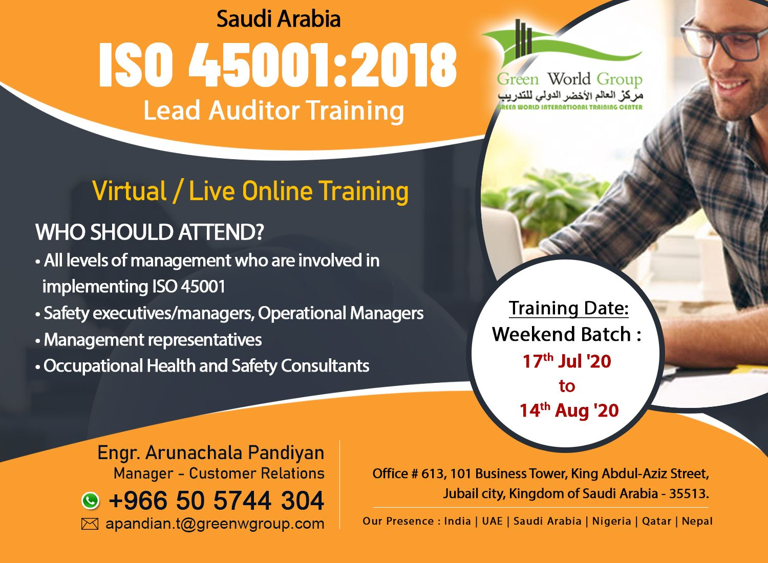 ISO 45001 Lead Auditor Course ISO 45001 2018