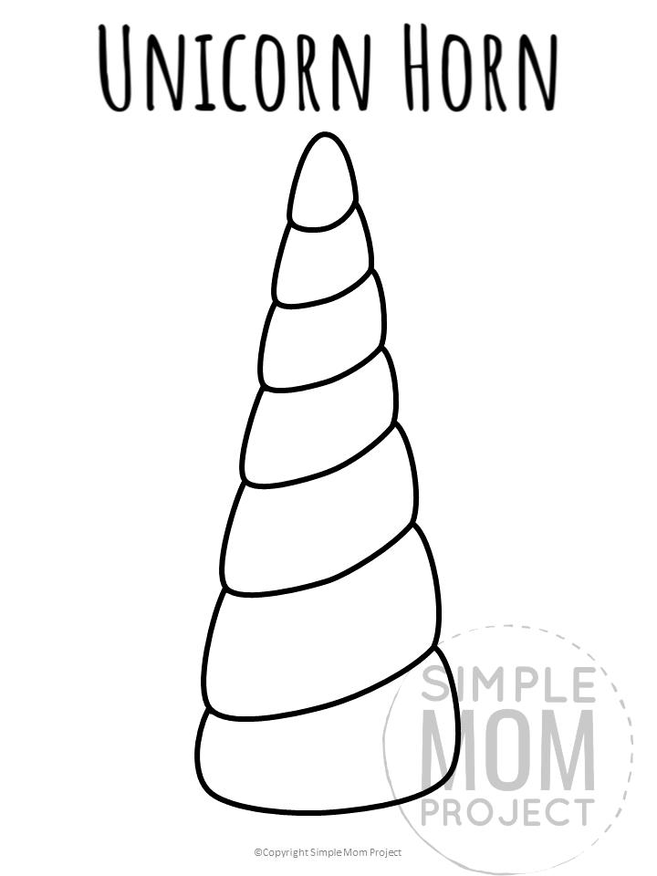 Free Printable Unicorn Horn Templates Simple Mom Project Unicorn Printables Unicorn Birthday Parties Unicorn Horn