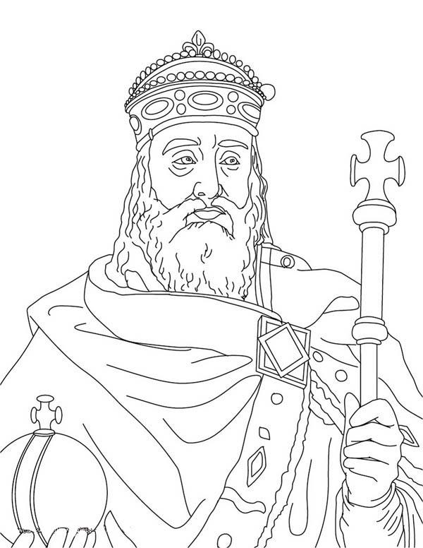 Charlemagne In Middle Ages Coloring Page Color Luna Historia De Portugal Geografia Historia