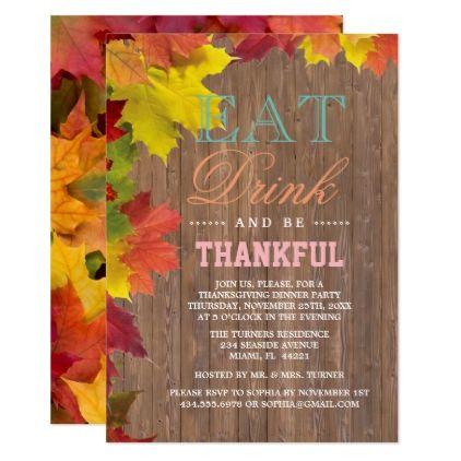 chic fall leaves old barn thanksgiving invite chic design idea diy