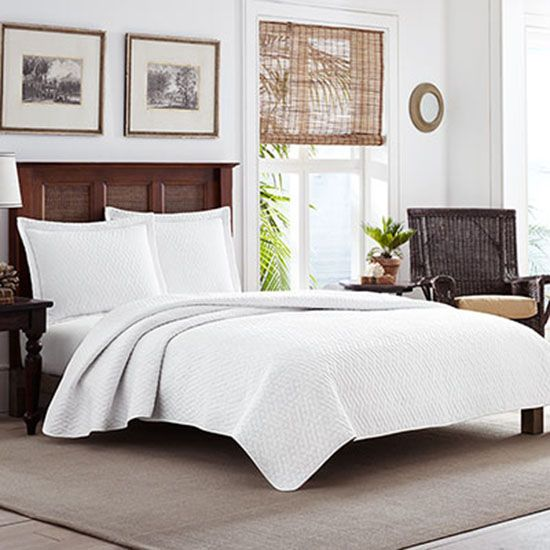 Deal of the Day: Up to 63% Off Tommy Bahama White Quilt Set ... : quilt deal of the day - Adamdwight.com