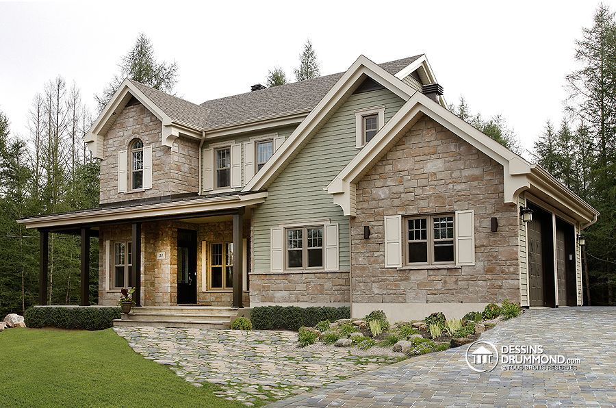 Superbe maison champ tre plan de maison unifamiliale for Modele maison champetre
