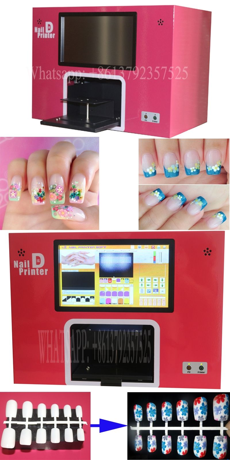 free shippinh nail Printer All IN ONE nail printer machine built ...