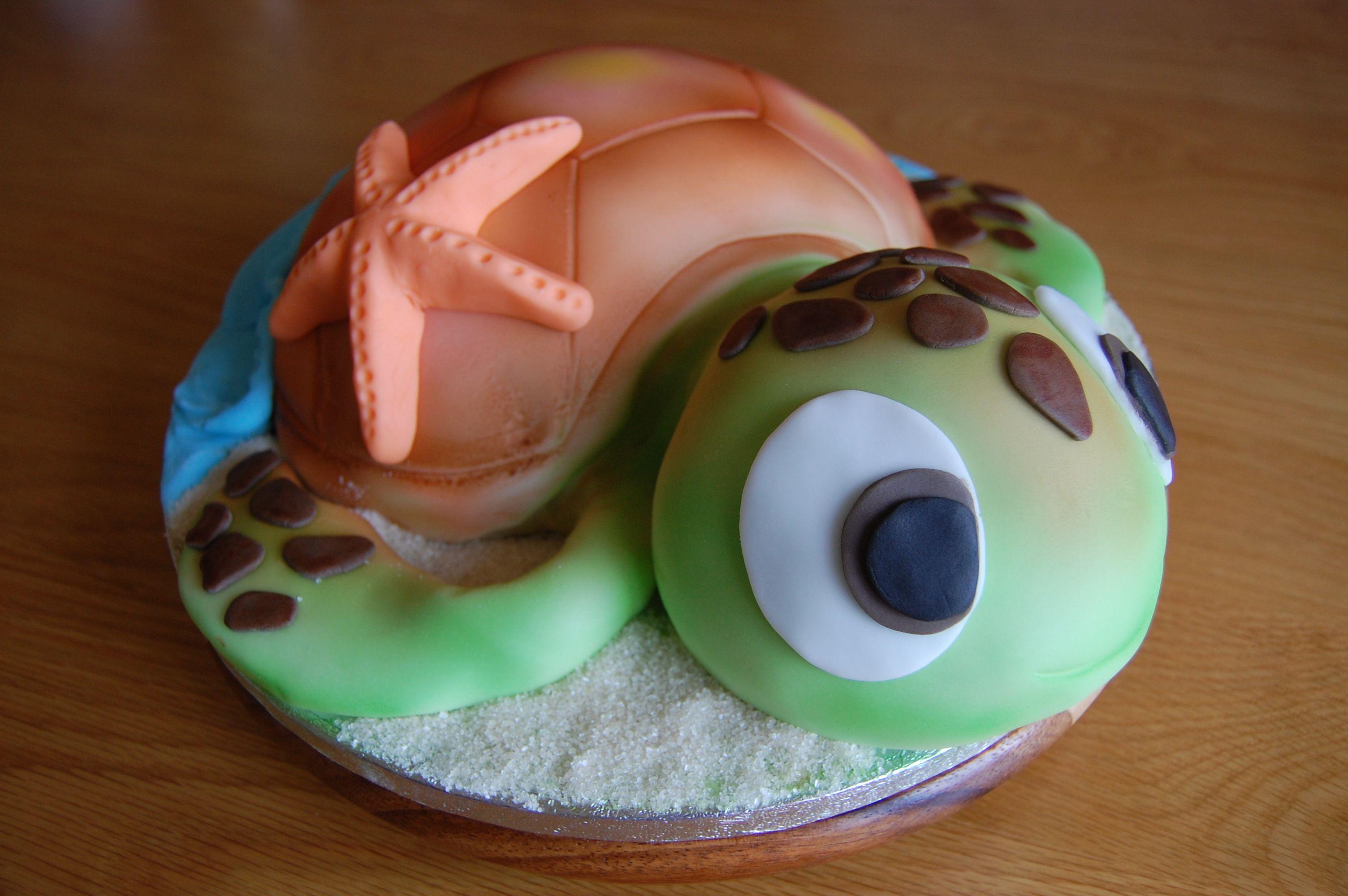 Turtle Cake Zo Schattig Die Ga Ik Ook Een Keertje Maken Cakes