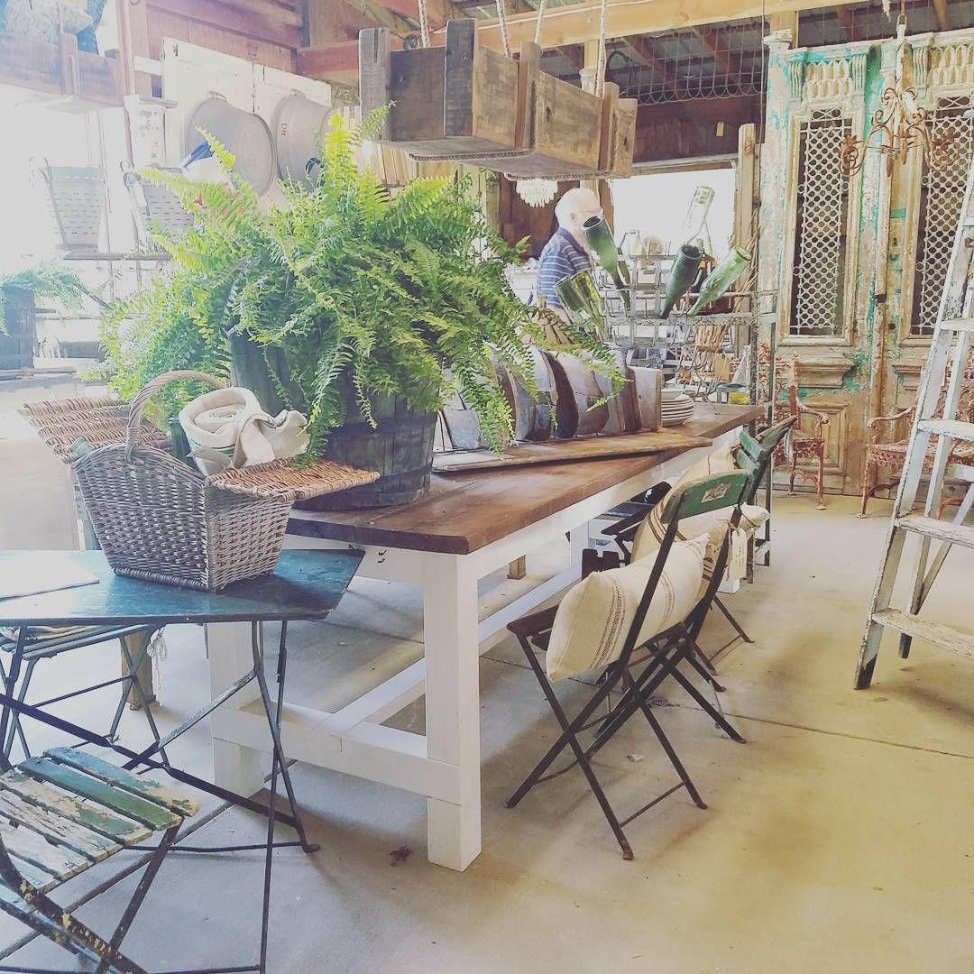 Love the #naturallight inside #thebarn at #thefrenchfarmerswife #barnsale #barntour  #focalpointstyling #thetriad  #lyndaquintero #instagram #nyclqinteriors #bestofnc #lifeinnc #northcarolina