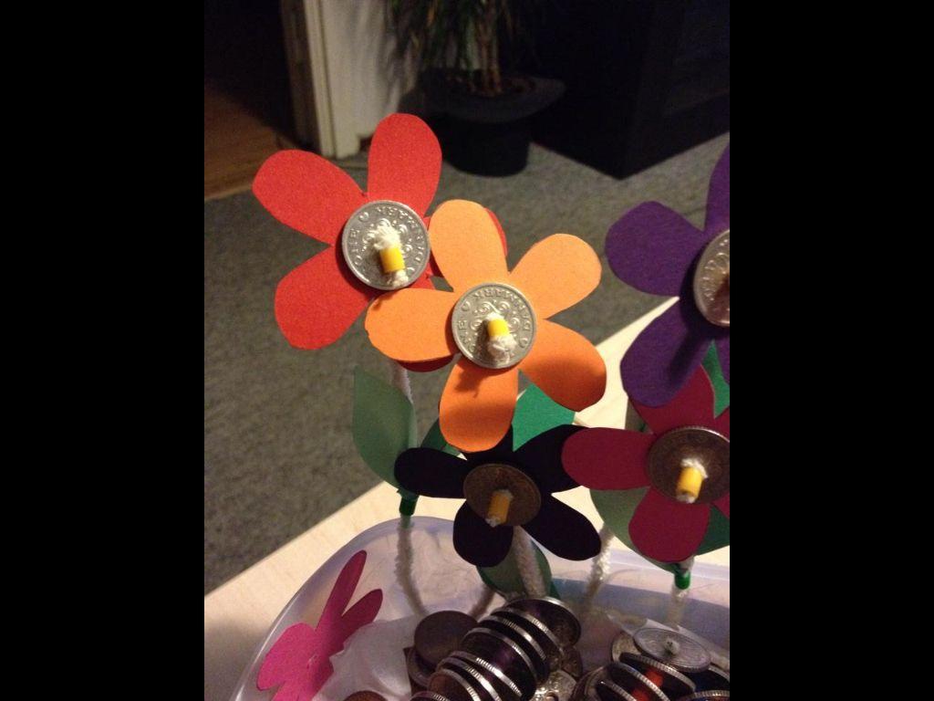 Små blomster lavet til en 10 årig pige